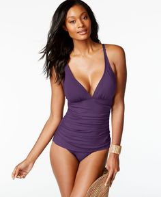 Tommy Bahama Ruched One-Piece Swimsuit