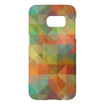 Colorful Modern Funky Retro Polygon Mosaic Pattern Samsung Galaxy S7 Case
