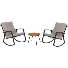 Mit diesem Balkonset ist Ihr Außenbereich für gemütliche Abende passend möbliert. 2 Stühle sowie ein kleiner Tisch passen perfekt auf Balkon oder Terrasse und schaffen ein einladendes und komfortables Ambiente.