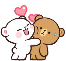 milkmochabear GIFs - Find & Share on GIPHY - Best of Wallpapers for Andriod and ios Cute Cartoon Images, Cute Couple Cartoon, Cute Love Gif, Cute Love Pictures, Cute Love Cartoons, Cute Cartoon Wallpapers, Calin Gif, Bisous Gif, Gif Lindos