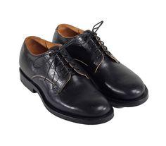 Viberg Derby Shoe Black Horsehide
