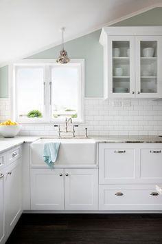 White kitchen and subway tile