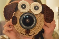 Puppy Camera Lens Buddy with Squeaker by EmmaGraceDesigns4 on Etsy