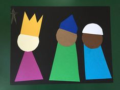 Preschooler Epiphany craft - Three Kings-image only Preschool Christmas Crafts, Preschool Projects, Christmas Activities, Kids Christmas, Holiday Crafts, Sunday School Projects, Sunday School Lessons, Epiphany Crafts, King Craft