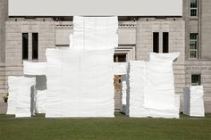 kwangho lee carves foam for EPS grotto / seoul pavilion project