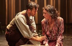 Jonah Russell and Hedydd Dylan in Lady Chatterley's Lover at Sheffield Crucible.