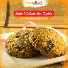 The Triple punch. A sleight of hand's delicacy. Order it here at http://www.fomokart.com/bakery-and-chocolates/date-walnut-oat-cookie