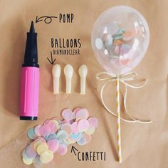 Balloons have made a comeback of late. There are so many DIY options. Check out these easy options for your next party. Balloon Decorations, Birthday Party Decorations, Diy Birthday, Birthday Parties, Deco Ballon, Unicorn Party, Diy Party, Party Planning, Diy Gifts