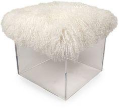 Grace & Blake Fluff Bella Cube - Lamb Cushion