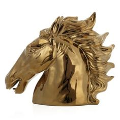 My parents have had a black one for as long as I remember. I have always told them I want it! Ceramic Stallion - Gold from Z Gallerie