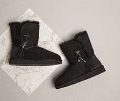 Cosy and quirky. Shoe Shop, Kid Shoes, Ugg Australia, Cosy, Cool Kids, Black Boots, Uggs, Trainers, Footwear