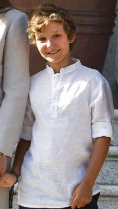 Don Felipe Juan Froilán de Marichalar y Borbón (14 yrs old), son of Spanish Infanta Elena and grandson of Spanish Kings Juan Carlos I and Queen Sofia