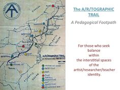The A/r/tographic Trail Map Opaque Projector, A & R, Art Base, Topographic Map, Projectors, Research, Masters, Maps, Trail