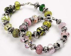 Bracelets with Glass Charm Beads