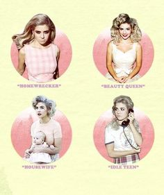 Marina & the Diamonds:    ♡ Home Wrecker ♡ Idle Teen ♡ Housewife  ♡Beauty Queen