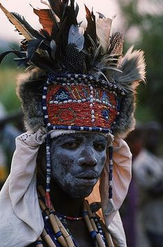 Shaman:  A #Witch #Doctor,or Bwanavide, dressed for a healing ceremony in the African village of Kikondja, in eastern Congo.   ©Robert Caputo.