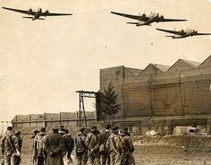 Historic photograph shows crew of bombing raid on Nazi Germany #dailymail