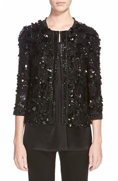 St. John Collection Hand Beaded Lace Jacket