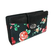 Floral Embossed Super Wallet by Buxton. This wallet is the perfect way to keep everything you need organized and secure. $24.95