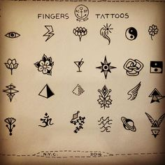 """Tiny Tattoos ideas for tiny spaces on Your Skin ,at @acquasantatattoo #newyork #tattoo #flash #designs #ideas #tiny #fingers #small #smalltattoo #outline…"""