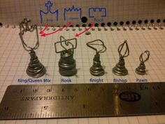 Picture of Ideas for a wire chess set.