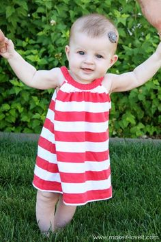 t-shirt into baby dress...