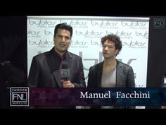 """Fashion News Live designer Manuel Facchini, Byblos. He talks about his feelings about being at Milan, Italy's Fashion Week. He tells us about how the future and past of the collection combines to give a sophisticated feminine look. Who is the """"Byblos Woman""""?  Find out here."""