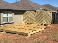 DIY Floating Deck Phase Chevron Privacy WallChevron + Privacy Wall = a Perfect Backyard Oasis Guys! I am SUPER excited to share this part of the floating deck because it is the BIGGEST and BADDE.