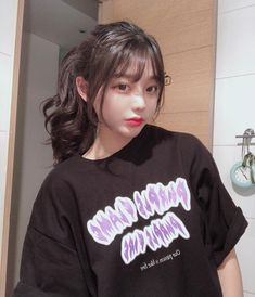 Pelo Ulzzang, Ulzzang Hair, Korean Bangs Hairstyle, Hairstyles With Bangs, Korean Beauty Girls, Cute Korean Girl, Ulzzang Girl Fashion, Woman Fashion, Korean Long Hair