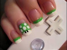 mario inspired nails