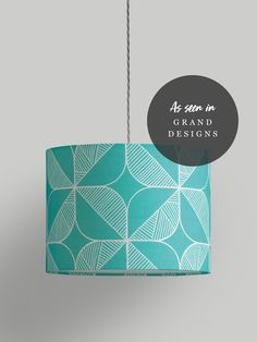 Rosette Lampshade – Turquoise - Turquoise / Small (25Ø x 20cm)
