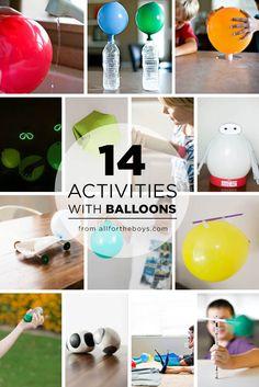 14 activities using balloons!