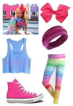 """Inspired By: Jojo Siwa"" by adrrudd ❤ liked on Polyvore"