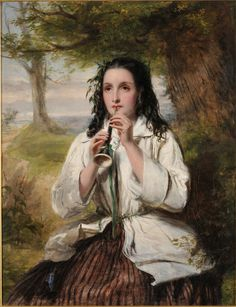 Poor Maria (c1850). William Powell Frith (English, 1819-1909). Oil on canvas. Mercer Art Gallery. Frith always loved to paint the human form. He relied entirely on painting actual people. He liked to use ordinary people as models but they often turned up drunk and had no sense of responsibility. So, as well as professional models, Frith placed friends and family in his work.
