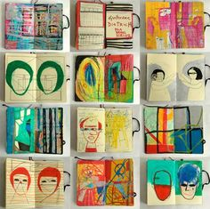 I really like the childish theme throughout this book. It's very simple in the layout but full of ideas and information that can be used for inspiration. I also like how colourful the sketchbook is and how this is continuous throughout. guilherme dietrich art artist sketchbook