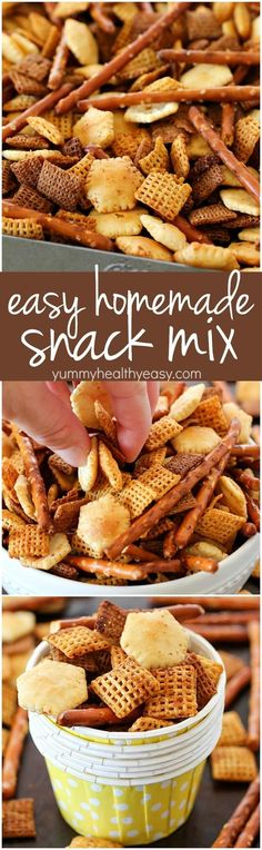 this homemade snack mix recipe is so easy to make and tastes delicious cereal