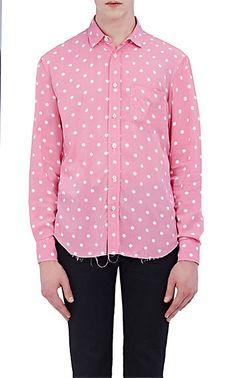 We Adore: The Polka Dot Oversized Shirt from Saint Laurent at Barneys New York