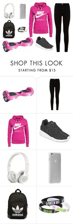 """""""#cool"""" by paolala3810 ❤ liked on Polyvore featuring 7 For All Mankind, NIKE, Le Coq Sportif, Beats by Dr. Dre, Case-Mate and adidas Originals"""