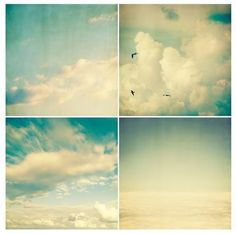 Cloud collage - love the slightly vintage color