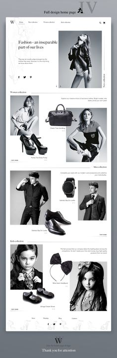 Fashion Store's homepage design