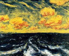 Emil Nolde - Autumn Sea XII (Herbstmeer XII), 1910 Oil on canvas, 73 x 89 cm Städel Museum, Frankfurt am Main, Germany Emil Nolde, Ernst Ludwig Kirchner, Paul Gauguin, Städel Museum, Karl Schmidt Rottluff, Degenerate Art, Neo Expressionism, Fauvism, Arte Popular