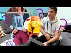 Nick Jonas plays Guess The Bulge featuring Harry Styles, Justin Bieber, Zac Efron and more - YouTube