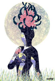 Virgo (zodiac series 1) Art Print