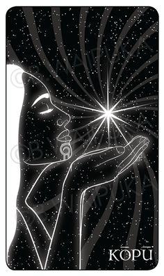KUPU: Venus, the morning star. 2015 current project - Maori Oracle Cards -- NIU, He Tangata Matauhi: Voices of the Ancestors. Maori Legends, Polynesian Art, New Zealand Art, Nz Art, Maori Art, Kiwiana, Star Pictures, Bone Carving, Angel Art
