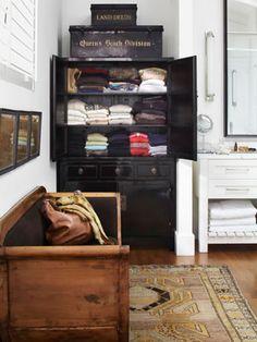 black lacquer storage cabinet