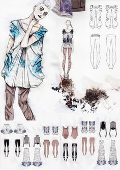 Fashion drawings and