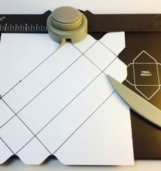 All you need is a 6″ x 6″ piece of cardstock, Envelope punch board, Paper trimmer, adhesive, candy to fill the box. :) Here's the directions: 1.You need to cut a piece of cardstoc…