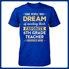 I Married My Favorite 6th Grade Teacher Cool Gift - Unisex Tshirt Royal 4XL - Careers professions shirts (*Amazon Partner-Link)