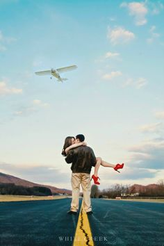 .Airplane Engagement by White Creek Photography  #aviator #pilot #airplane #airport #engagement #couple #love #photography #photographyposes #poses #engagementideas #engagementlocations #airplaneengagement #romance #planes