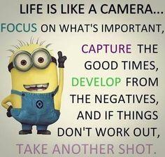 Minions- Life is Like a Camera quote Today Top 41 lol Minionsn PM, Monday January 2017 PST) – 41 pics Cute Minions, Funny Minion Memes, Minions Quotes, Funny Jokes, Minion Humor, Minion Sayings, Minion Stuff, Evil Minions, Funny Texts